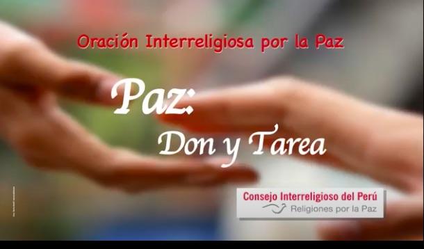 Diferentes religiones se unen para hacer una oración por la paz en el Perú