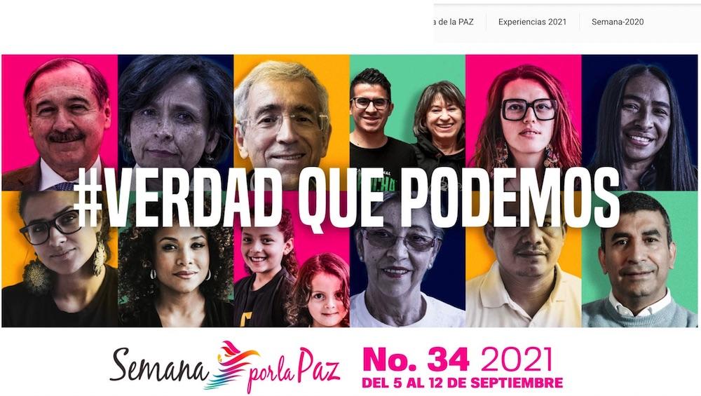 """""""Semana por la Paz 2021"""" Iniciativa para la consolidación de la paz en Colombia"""